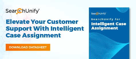 SearchUnify for Intelligent Case Assignment